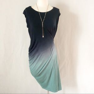 Mystree Side Zip Ombré Navy Blue & Teal NWT Dress